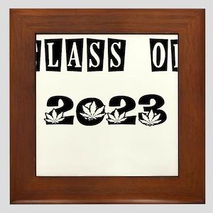 CLASS OF 2023 MARIJUANA Framed Tile