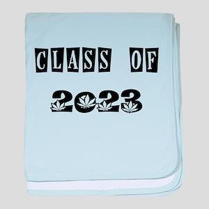 CLASS OF 2023 MARIJUANA baby blanket
