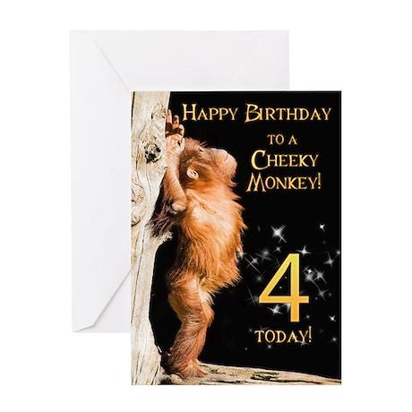 4th birthday card Greeting Card