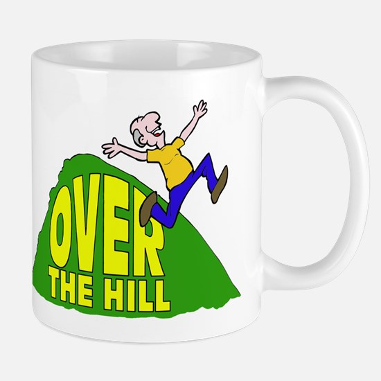 Over the Hill Cartoon Mug