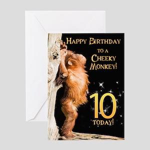 10th birthday card Greeting Card