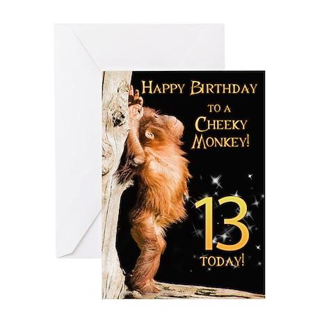 13th birthday card Greeting Card