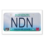 Missouri NDN license plate Rectangle Sticker