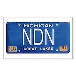 Michigan NDN Pride Rectangle Sticker