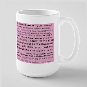 what nursing means to me pink Mug