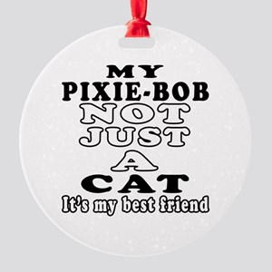 Pixie-Bob Cat Designs Round Ornament