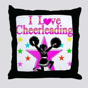 CHEERING CHICK Throw Pillow