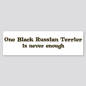 One Black Russian Terrier Bumper Sticker
