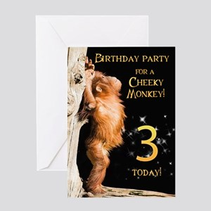 3rd Birthday party invitation Greeting Card