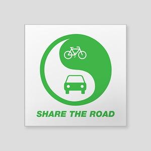 "SHARE THE ROAD Square Sticker 3"" x 3"""