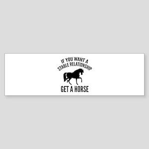Get A Horse Sticker (Bumper)