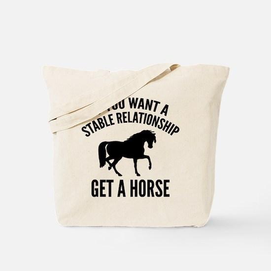 Get A Horse Tote Bag