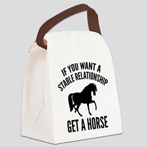 Get A Horse Canvas Lunch Bag