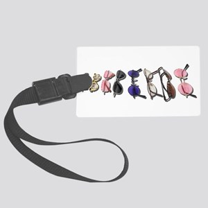 VarietyColorfulGlasses082611 Large Luggage Tag