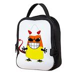 Evil Candy Corn Neoprene Lunch Bag