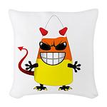 Evil Candy Corn Woven Throw Pillow