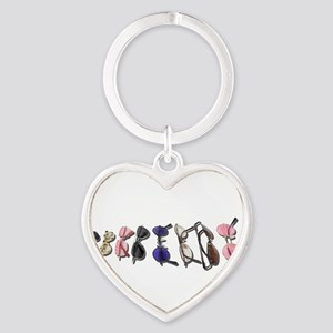 Variety of Colorful Glasses Keychains