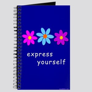 Cool Flowers Express Yourself Journal