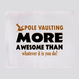 Awesome Polevault designs Throw Blanket