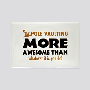 Awesome Polevault designs Rectangle Magnet