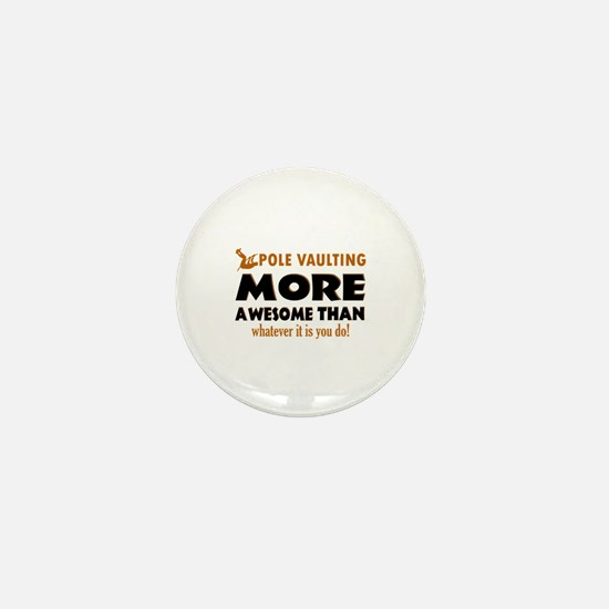 Awesome Polevault designs Mini Button