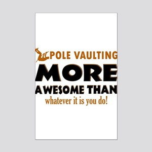 Awesome Polevault designs Mini Poster Print