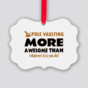 Awesome Polevault designs Picture Ornament