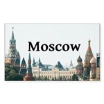 Moscow Sticker (Rectangle 50 pk)