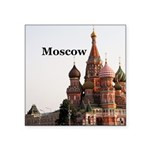 "Moscow Square Sticker 3"" x 3"""