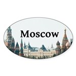 Moscow Sticker (Oval 10 pk)