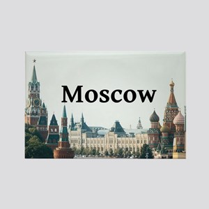 Moscow Rectangle Magnet