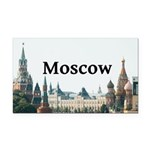 Moscow Rectangle Car Magnet