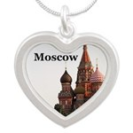 Moscow Silver Heart Necklace