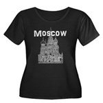 Moscow Women's Plus Size Scoop Neck Dark T-Shirt
