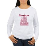 Moscow Women's Long Sleeve T-Shirt