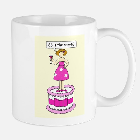 66th birthday humor for her. Mugs