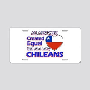 Chileans Wife Designs Aluminum License Plate