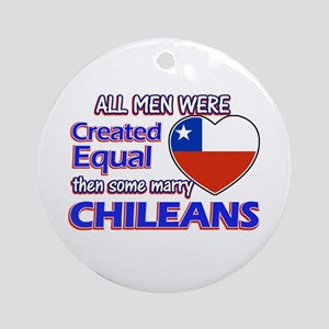 Chileans Wife Designs Ornament (Round)