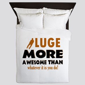 Awesome luge designs Queen Duvet