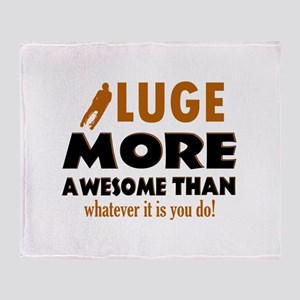 Awesome luge designs Throw Blanket