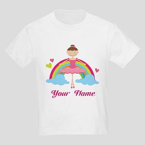 Personalized Ballerina Dancer Kids Light T-Shirt