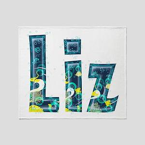 Liz Under Sea Throw Blanket