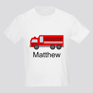 Personalized Fire Truck Kids Light T-Shirt