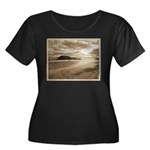 Footsteps In The Sand Plus Size T-Shirt