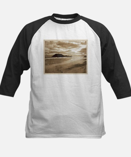 Footsteps In The Sand Baseball Jersey