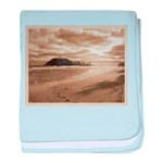 Footsteps In The Sand baby blanket