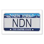 New York NDN Rectangle Sticker