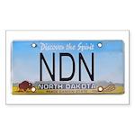 North Dakota NDN Pride Rectangle Sticker