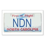 North Carolina NDN Pride Rectangle Sticker