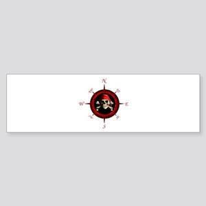 Pirate Compass Rose Bumper Sticker